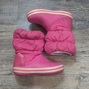 Crocs Kids Winter Puff Boots Girls Size 7 Toddler